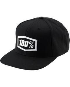 Headwear 100% ESSENTIAL Snapback Hat Black Youth