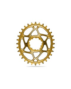 absoluteBLACK Oval Premium Chainring SRAM 3mm Offset Direct Mount Boost 1x Narrow Wide Gold