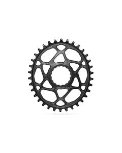 absoluteBLACK Oval Premium Chainring Race Face Cinch Shimano HyperGlide+ 12spd Direct Mount Boost 1x Narrow Wide Black