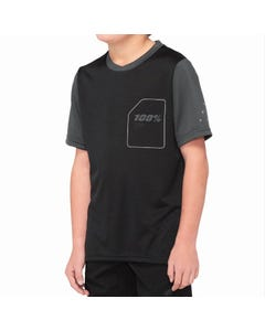 Jersey SS Youth 100% Ridecamp Black/Charcoal