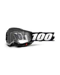Goggles 100% Accuri 2 Enduro Black Clear Vented Dual Lens