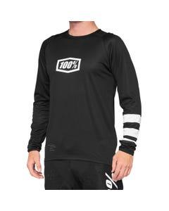 100% R-Core Short Sleeve Jersey Black/White
