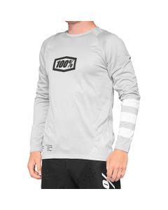 100% R-Core Long Sleeve Jersey Vapour/White