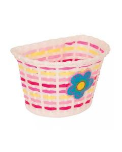 Basket Front Kids Flower Blue Pink