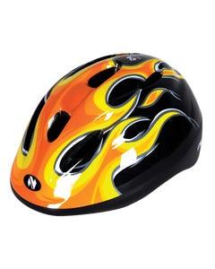 Netti Pilot Flame Kids Helmet (Black)