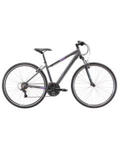 Apollo Transfer 10 Women's Hybrid Bike Charcoal/Black/Lavender (2022)
