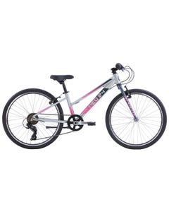 """Neo Kids Bike 24"""" 7-Speed Brushed Alloy Charcoal/Pink Fade (2022)"""