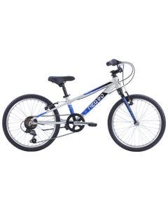 "Neo Kids Bike 20"" 6-Speed Silver with Black Blue Fade (2022)"