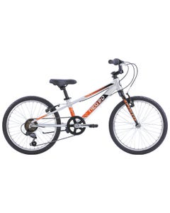 "Neo Kids Bike 20"" 6-Speed Silver with Black Orange Fade (2022)"