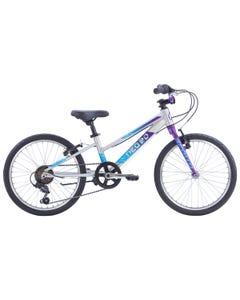 """Neo Kids Bike 20"""" 6-Speed Brushed Alloy Purple/Blue Fade (2022)"""
