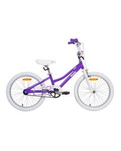 Pedal Bam Alloy Girls Purple White 20in