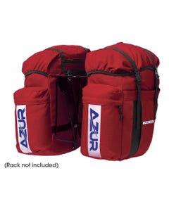 Azur Commuter Rear Pannier Bag Pair 48L Red