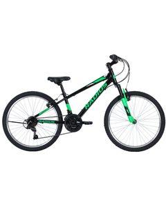 Radius Axis AL Kids Mountain Bike 24 Inch Gloss Black/Neon Green/Chrome (2019)