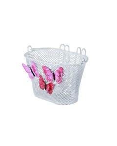 Basil Jasmin Butterfly Kids Basket White