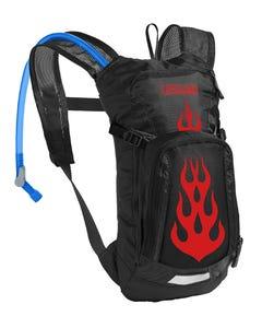 CamelBak Mini M.U.L.E. Hydration Bag 1.5L Black/Flames