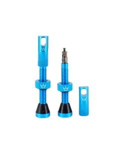 Peatys Tubeless Valves 60mm Matte Turquoise (Pair)