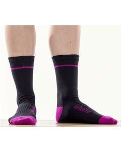 Socks Bellwether Optime Black/Fuchsia