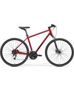 Merida Crossway 40 Hybrid Bike Xmas Red/Black (2021)