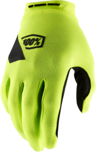 100% Ridecamp Full Finger Gloves Fluo Yellow