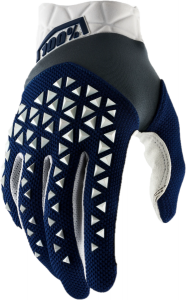 Gloves FF 100% Airmatic Navy/Steel/White