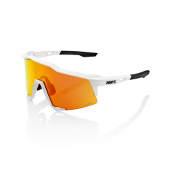 Sunglasses 100% Speedcraft White HiPER Red Mirror