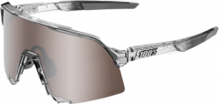 Sunglasses 100% S3 Translucent Grey HiPER Silver Mirror