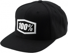 Headwear 100% ESSENTIAL Snapback Hat Black Youth