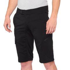 100% Ridecamp Shorts - No Liner Black