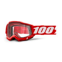 Goggles 100% Accuri 2 Enduro Red Clear Vented Dual Lens