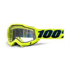 Goggles 100% Accuri 2 Enduro Yellow Clear Vented Dual Lens