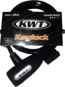KWT Key Coil Lock 180x8