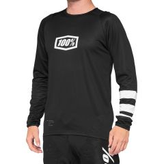 100% R-Core Short Sleeve Jersey Black/White