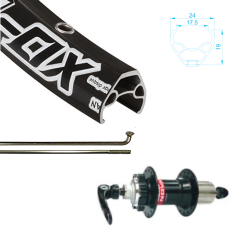 Alex Rim 700c 29er XD-Lite with Novatec Hub, 8-11 Speed Compatible, Quick Release