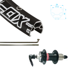 Alex Rim 700c 29er XD-Lite with Novatec Hub, 8-11 Speed Compatible Center Lock