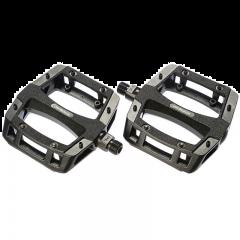 JetBlack Flat Out Black Alloy Pedals   MTB (Black)   99 Bikes