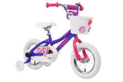 Pedal Sprout Steel Girls Bike Pink/Purple