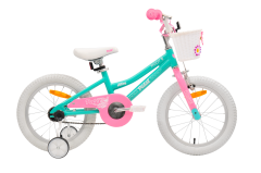 Pedal Hoot Girls Bike 16 Inch Turquoise/Pink