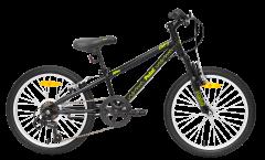 Pedal Zap 20 Boys Mountain Bike Black/Yellow