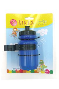Kids Mini Water Bottle Blue & Adjustable Cage