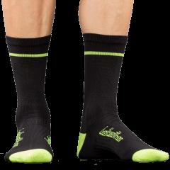 Bellwether Optime Socks Black/Hi-Vis