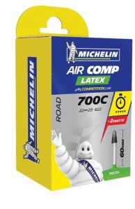 Michelin Air Comp Latex - 700x22/23C Presta Tube 60mm