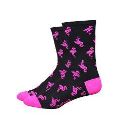 Defeet Aireator Sock Flock Off Black/Hi-viz Pink