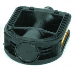 Azur BMX 1/2inch Alloy Platform Pedal Black
