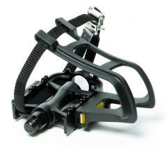 Azur Metal pedal with Toe Cup & Strap Set