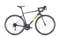 Cube Attain Road Bike Grey/Flash Yellow (2020)