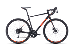 Cube Attain Pro Road Bike Black/Orange (2020)