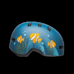Bell Lil Ripper Kids Helmet Matt Grey/Blue Fish