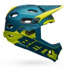 Helmet Fullface Bell Super DH Mips Blue/Hi-Viz LG