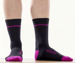 Socks Bellwether Optime Black/Fuchsia