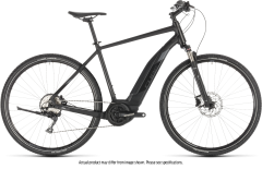 Cube Cross Hybrid EXC 500 E-Hybrid Bike Black/Grey (2019)
